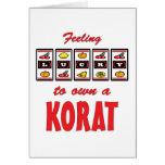 Lucky to Own a Korat Fun Cat Design Greeting Card