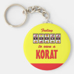 Lucky to Own a Korat Fun Cat Design Keychain