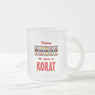 Lucky to Own a Korat Fun Cat Design 10 Oz Frosted Glass Coffee Mug