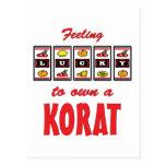 Lucky to Own a Korat Fun Cat Design Postcard