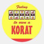 Lucky to Own a Korat Fun Cat Design Classic Round Sticker