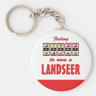 Lucky to Own a Landseer Fun Dog Design Keychain