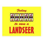 Lucky to Own a Landseer Fun Dog Design Post Card