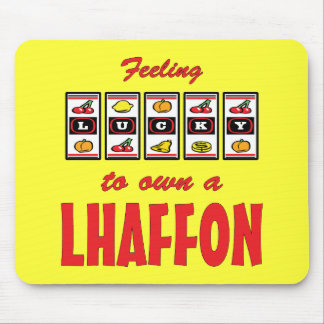 Lucky to Own a Lhaffon Fun Dog Design Mouse Pad