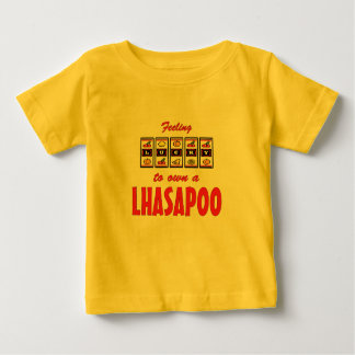 Lucky to Own a Lhasapoo Fun Dog Design Baby T-Shirt