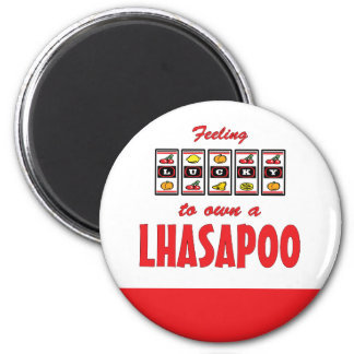 Lucky to Own a Lhasapoo Fun Dog Design Magnet