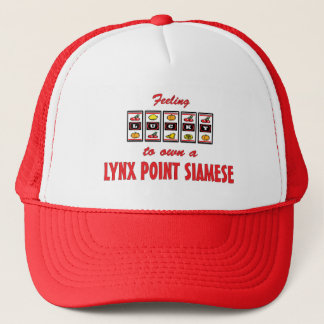 Lucky to Own a Lynx Point Siamese Fun Cat Design Trucker Hat