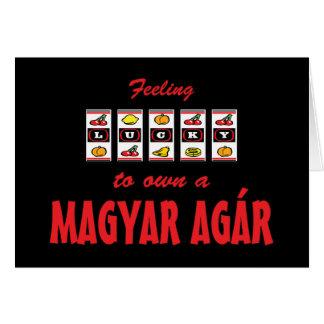 Lucky to Own a Magyar Agár Fun Dog Design Card