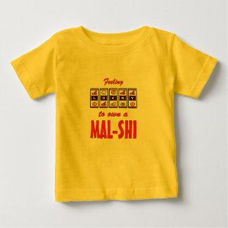 Lucky to Own a Mal-Shi Fun Dog Design Baby T-Shirt