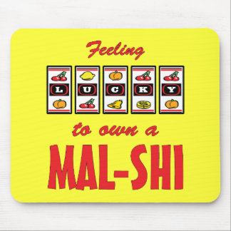 Lucky to Own a Mal-Shi Fun Dog Design Mouse Pad