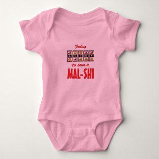 Lucky to Own a Mal-Shi Fun Dog Design Shirts