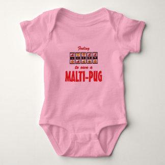 Lucky to Own a Malti-Pug Fun Dog Design Tee Shirt