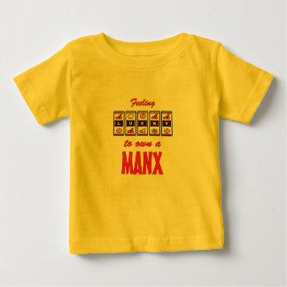 Lucky to Own a Manx Fun Cat Design T Shirt
