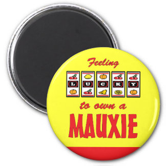 Lucky to Own a Mauxie Fun Dog Design Refrigerator Magnets