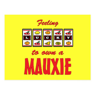 Lucky to Own a Mauxie Fun Dog Design Postcards
