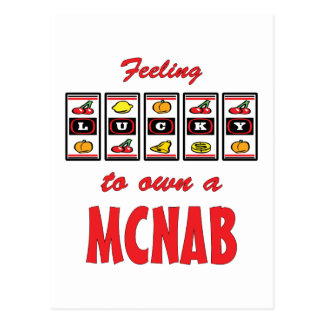 Lucky to Own a McNab Fun Dog Design Postcard