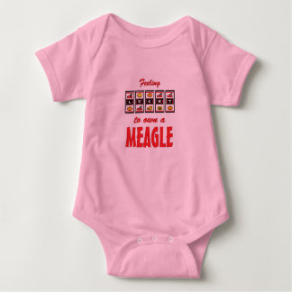 Lucky to Own a Meagle Fun Dog Design Baby Bodysuit