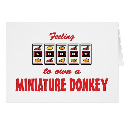 Lucky to Own a Miniature Donkey Fun Design Greeting Cards