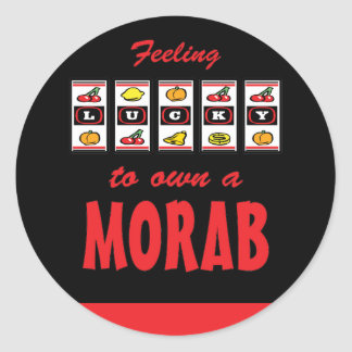 Lucky to Own a Morab Fun Horse Design Classic Round Sticker
