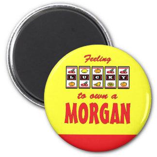 Lucky to Own a Morgan Fun Horse Design 2 Inch Round Magnet