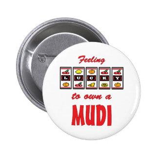 Lucky to Own a Mudi Fun Dog Design 2 Inch Round Button