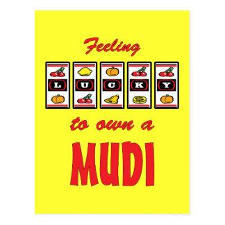 Lucky to Own a Mudi Fun Dog Design Postcard