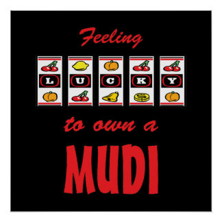 Lucky to Own a Mudi Fun Dog Design Poster