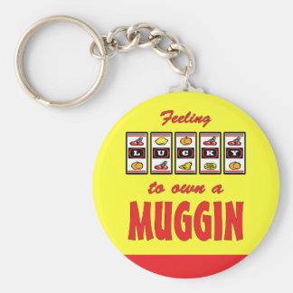 Lucky to Own a Muggin Fun Dog Design Keychains
