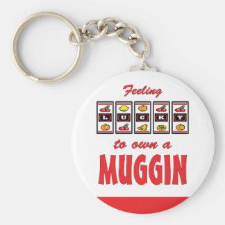 Lucky to Own a Muggin Fun Dog Design Key Chain