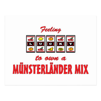 Lucky to Own a Münsterländer Mix Fun Dog Design Postcard