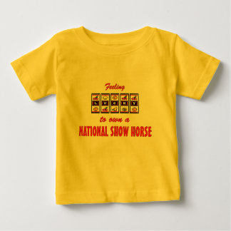 Lucky to Own a National Show Horse Fun Design T Shirts