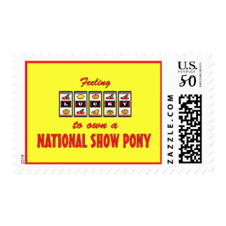 Lucky to Own a National Show Pony Fun Design Postage