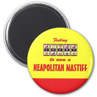 Lucky to Own a Neapolitan Mastiff Fun Dog Design Refrigerator Magnet