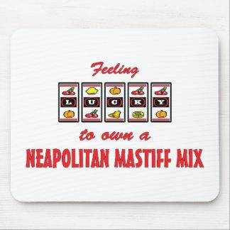 Lucky to Own a Neapolitan Mastiff Mix Fun Design Mouse Pad