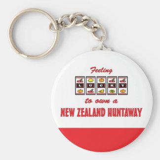 Lucky to Own a New Zealand Huntaway Fun Dog Design Keychain