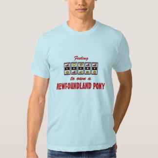 Lucky to Own a Newfoundland Pony Fun Design Tee Shirt