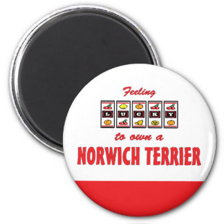 Lucky to Own a Norwich Terrier Fun Dog Design Fridge Magnet
