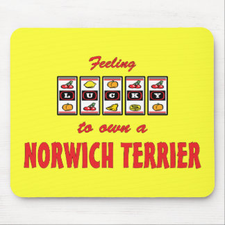 Lucky to Own a Norwich Terrier Fun Dog Design Mouse Pad