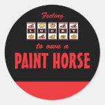 Lucky to Own a Paint Horse Fun Design Sticker