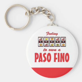 Lucky to Own a Paso Fino Fun Horse Design Keychain