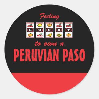 Lucky to Own a Peruvian Paso Fun Horse Design Classic Round Sticker