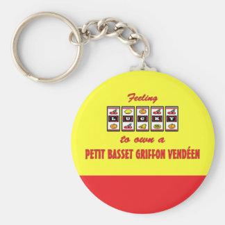 Lucky to Own a Petit Basset Griffon Vendéen Keychain
