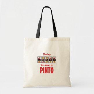 Lucky to Own a Pinto Fun Horse Design Canvas Bags