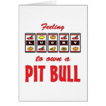 Lucky to Own a Pit Bull Fun Dog Design Card
