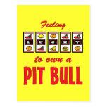 Lucky to Own a Pit Bull Fun Dog Design Post Cards