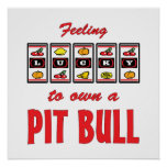 Lucky to Own a Pit Bull Fun Dog Design Posters