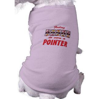 Lucky to Own a Pointer Fun Dog Design Pet Tshirt
