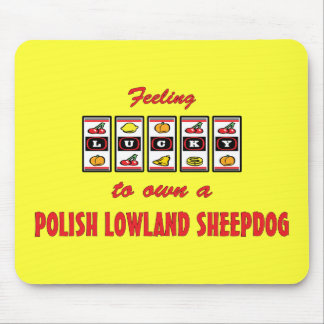 Lucky to Own a Polish Lowland Sheepdog Fun Design Mouse Pad