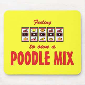 Lucky to Own a Poodle Mix Fun Dog Design Mouse Pad
