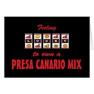 Lucky to Own a Presa Canario Mix Fun Dog Design Card